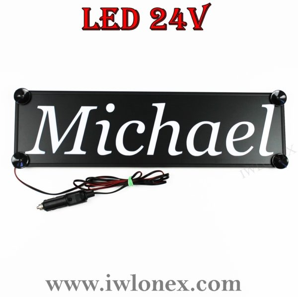 IMG 0750 600x598 - 1 LKW LED NAMENSCHILD 24V MICHAEL
