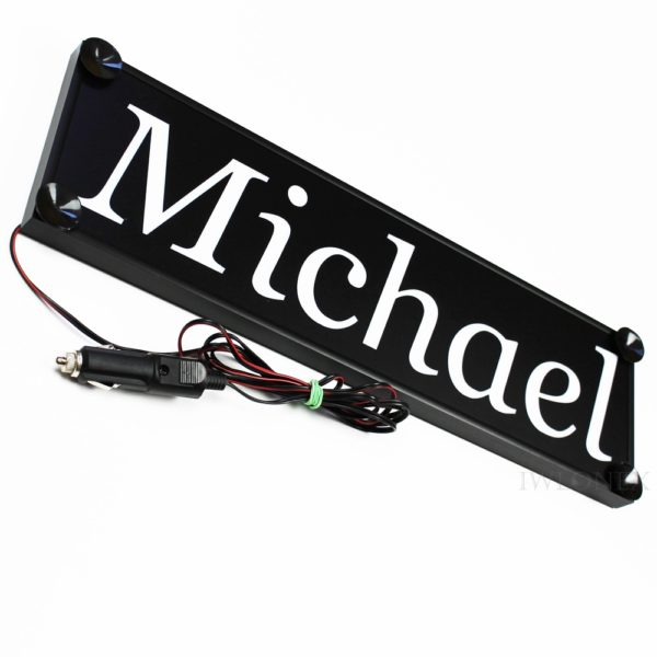 IMG 0751 600x600 - 1 LKW LED NAMENSCHILD 24V MICHAEL