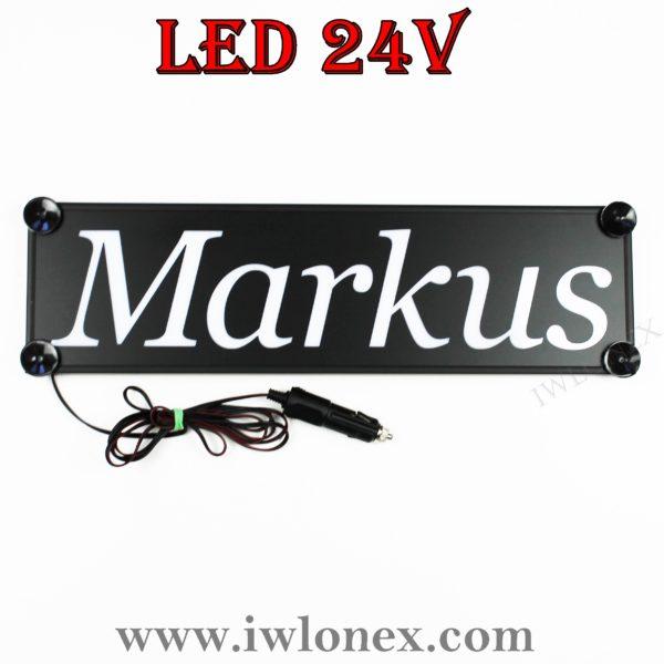 IMG 0754 600x600 - 1 LKW LED NAMENSCHILD 24V MARKUS