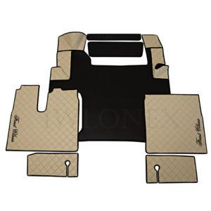 Fussmatten passend fur MAN TGX E6 Beige Schwarz IWLONEX 300x300 - Fußmatten passend für MAN TGX E6 ab 2018 bis 2019 - Schwarz