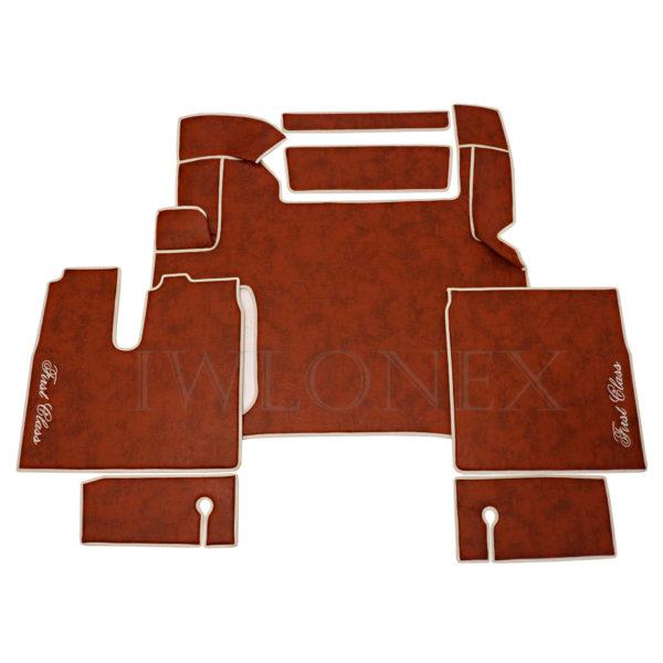 Fussmatten passend fur MAN TGX E6 Marmor Orange IWLONEX 600x600 - Fußmatten passend für MAN TGX E6 ab 2018 bis 2019 - Marmor - Orange