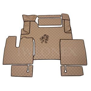 Fussmatten passend fur MAN TGX E6 mit mit schmale Handbremsenkonsole Cappuccino IWLONEX 300x300 - Fußmatten passend für MAN TGX E6 ab 2018 Automatik Cappuccino