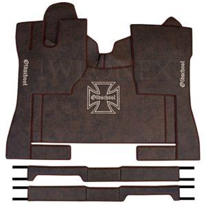 Fussmatten passend fur VOLVO FH4 Marmor Dunkelbraun IWLONEX 300x300 - Fußmatten passend für Volvo FH4 + Sitzsockelverkleidung - Dunkelbraun Marmor
