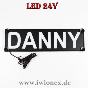 Danny 300x300 - 1 LKW LED NAMENSCHILD Kastenschild 24V DANNY