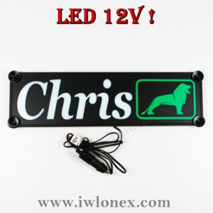 chris 300x300 - 1 LKW LED NAMENSCHILD Kastenschild 12V! CHRIS