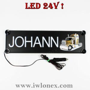johann 300x300 - 1 LKW LED NAMENSCHILD Kastenschild 24V JOHANN
