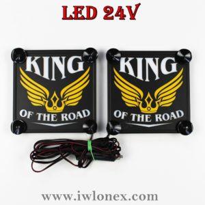 king8 300x300 - 1 Paar LKW LED Kastenschilder Leuchtschilder 24V King