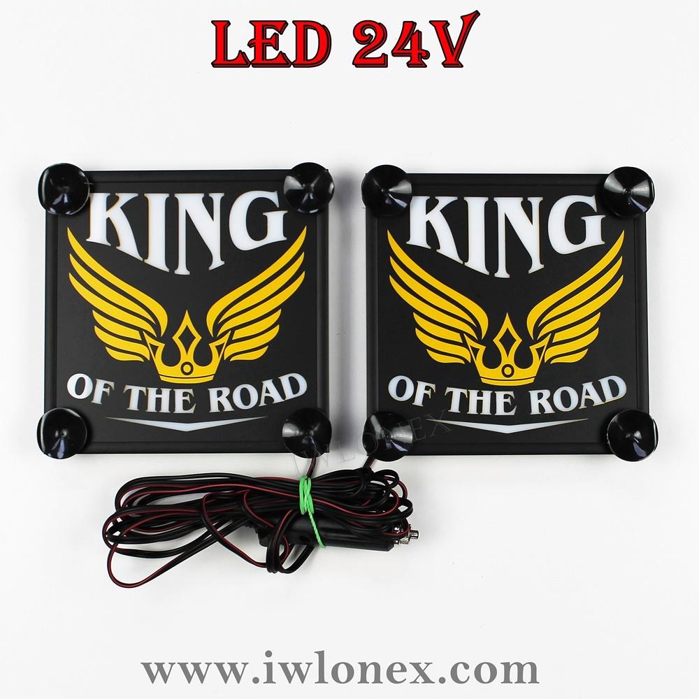 king8 - 1 Paar LKW LED Kastenschilder Leuchtschilder 24V King
