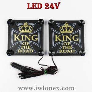 kreuz king 300x300 - LKW LED Leuchtschilder Kastenschilder King 24V