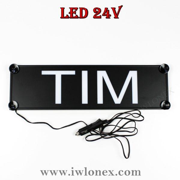 tim 600x600 - 1 LKW LED NAMENSCHILD Kastenschild 24V TIM