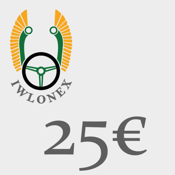 Gutschein 25EU iwlonex 600x600 - Geschenkgutschein, Einkaufsgutschein, Gutschein 25€