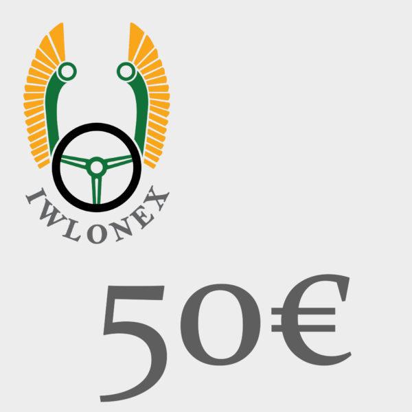 Gutschein 50EU iwlonex 600x600 - Geschenkgutschein, Einkaufsgutschein, Gutschein 50€