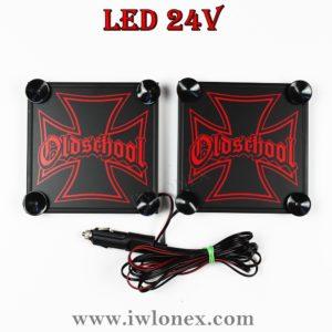 IMG 0889 300x300 - 1 Paar LKW LED Leuchtschilder 24V Eiserne Kreuz Rot UNIVERSAL