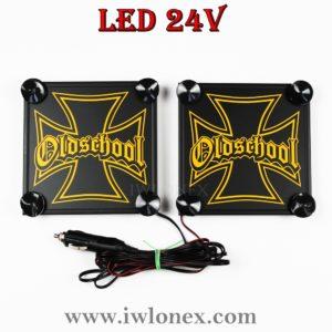 IMG 0909 300x300 - 1 Paar LKW LED Leuchtschilder 24V Eiserne Kreuz Gelb UNIVERSAL