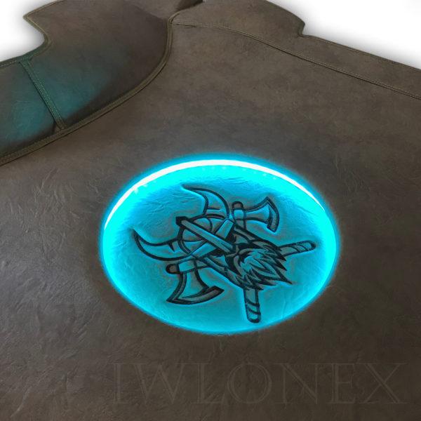 LKW Tunnelabdeckung passend fur VOLVO FH4 IWLONEX 2 600x600 - Tunnelabdeckung mit Beleuchtung passend für VOLVO FH4 - Marmor - deine Farben