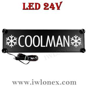 coolman 300x300 - 1 LKW LED NAMENSCHILD Kastenschild 24V COOLMAN